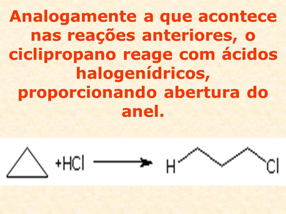 O ciclobutano e os anéis maiores se comportam como alcanos, sendo alvo de reações de substituição.