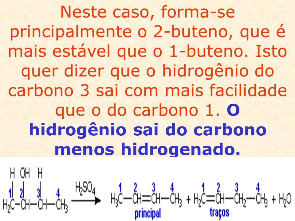 Álcoois podem ser desidratados por meio de uma catálise heterogênea.