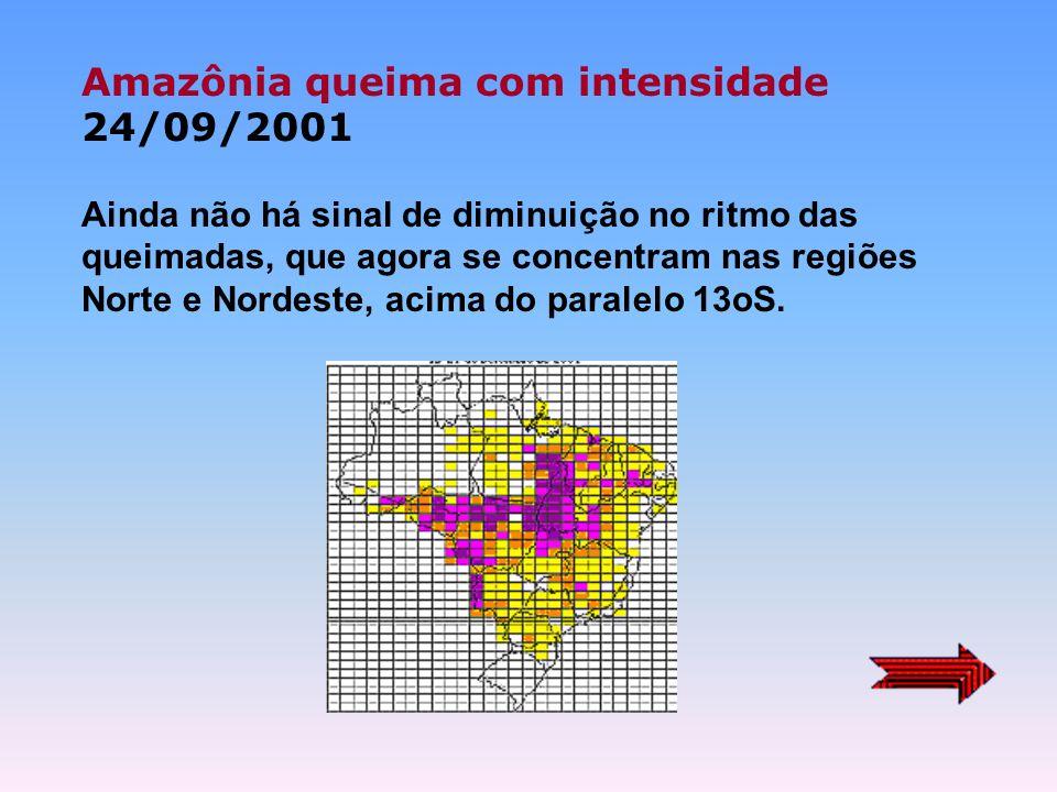 Queimadas e incêndios atingem região central da América do Sul 28/08/03 Brasil tem 6.252 focos na semana, concentrados na Calha Sul do Amazonas. Paíse
