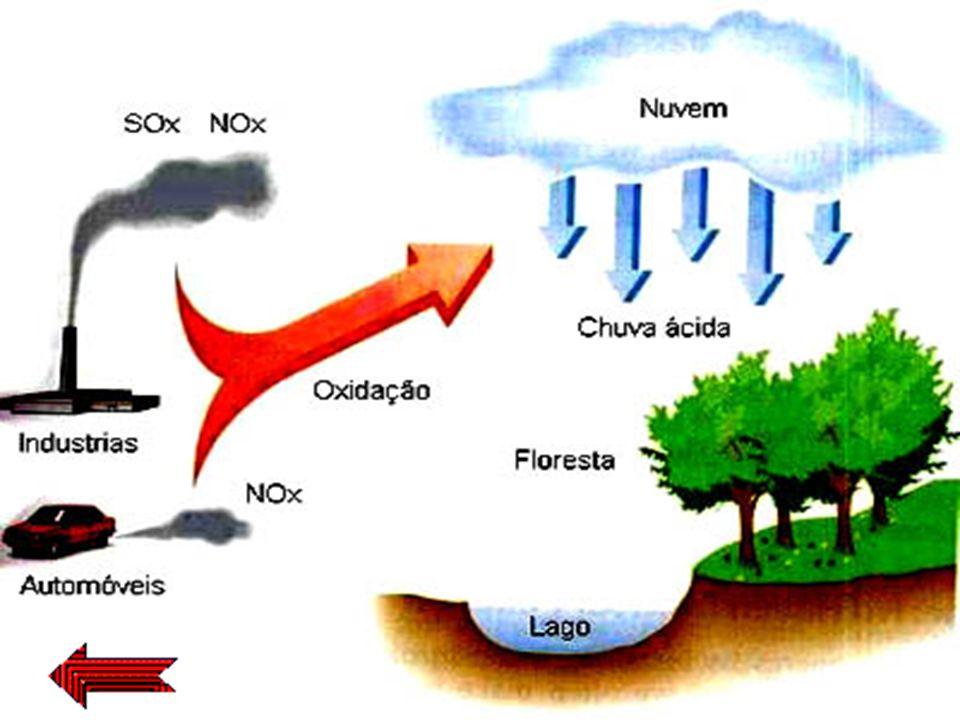 Chuva ácida refere-se à deposição úmida de constituintes ácidos, os quais dissolvem-se nas nuvens e nas gotas de chuva para formar uma solução com pH
