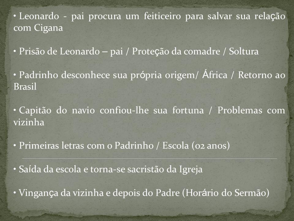 Leonardo - pai procura um feiticeiro para salvar sua rela ç ão com Cigana Prisão de Leonardo – pai / Prote ç ão da comadre / Soltura Padrinho desconhe