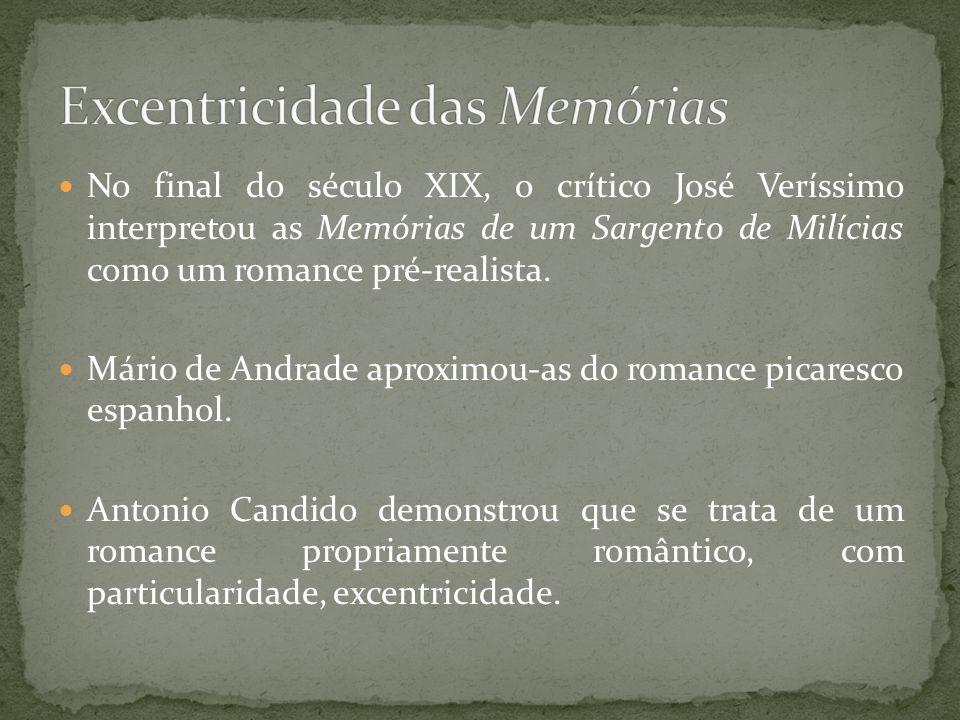 No final do século XIX, o crítico José Veríssimo interpretou as Memórias de um Sargento de Milícias como um romance pré-realista. Mário de Andrade apr