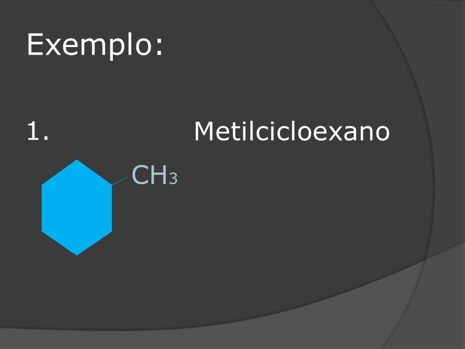 Exemplo: CH 3 Metilcicloexano 1.