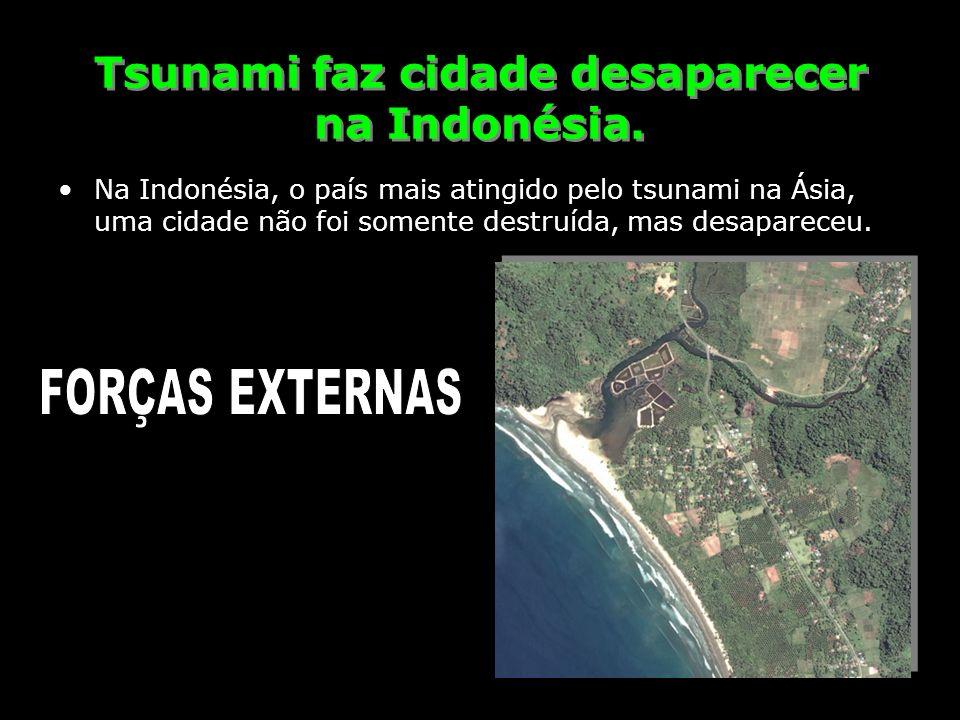 Tsunami faz cidade desaparecer na Indonésia. Na Indonésia, o país mais atingido pelo tsunami na Ásia, uma cidade não foi somente destruída, mas desapa