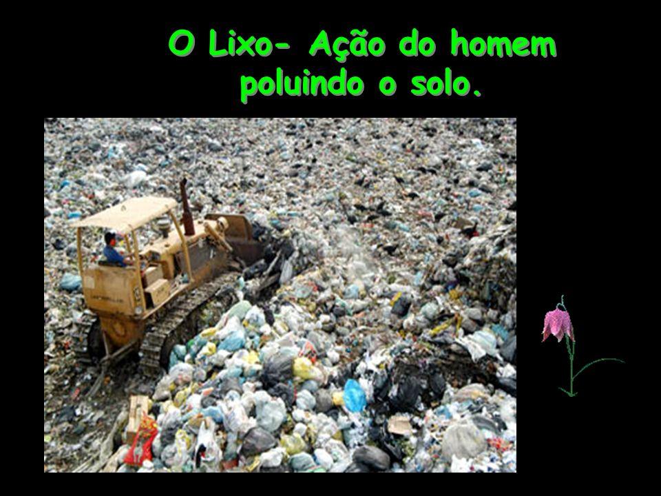 O Lixo- Ação do homem poluindo o solo.