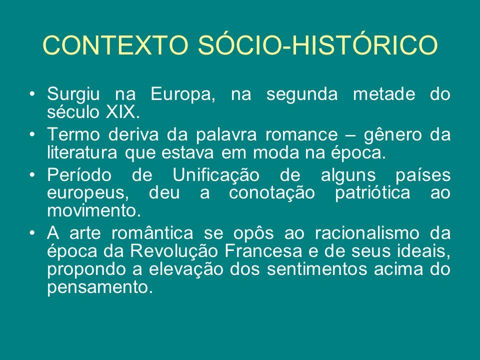CONTEXTO SÓCIO-HISTÓRICO Surgiu na Europa, na segunda metade do século XIX.