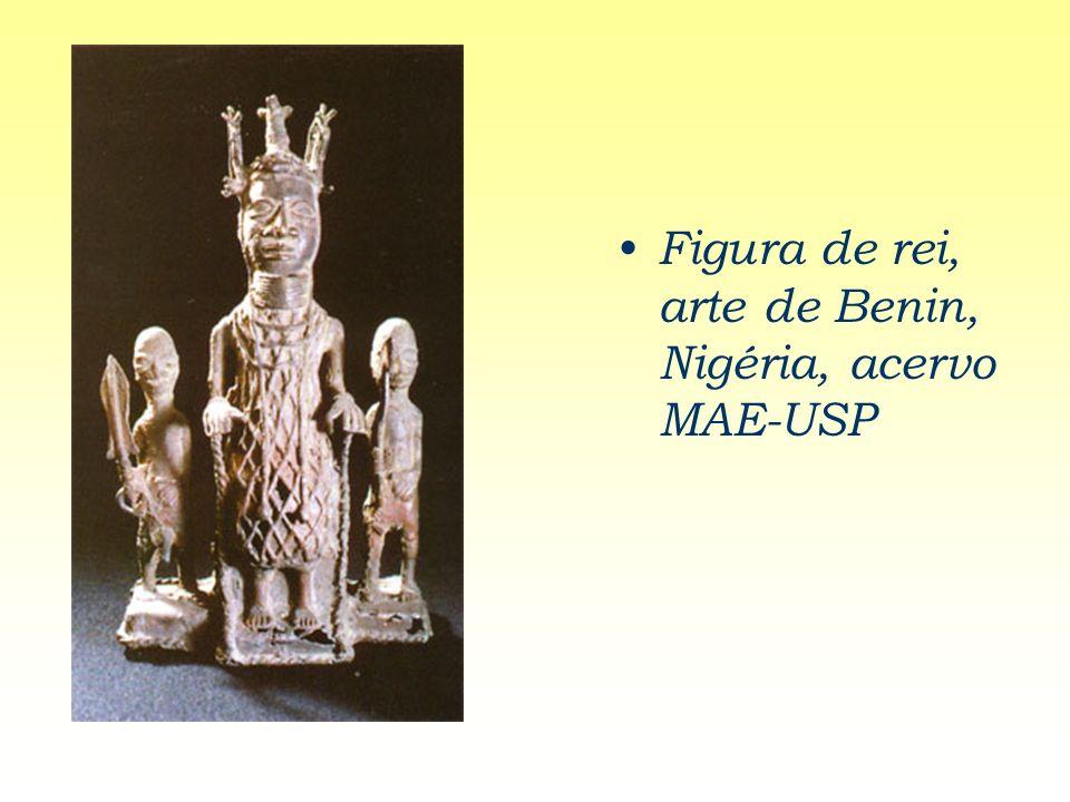 Figura de rei, arte de Benin, Nigéria, acervo MAE-USP