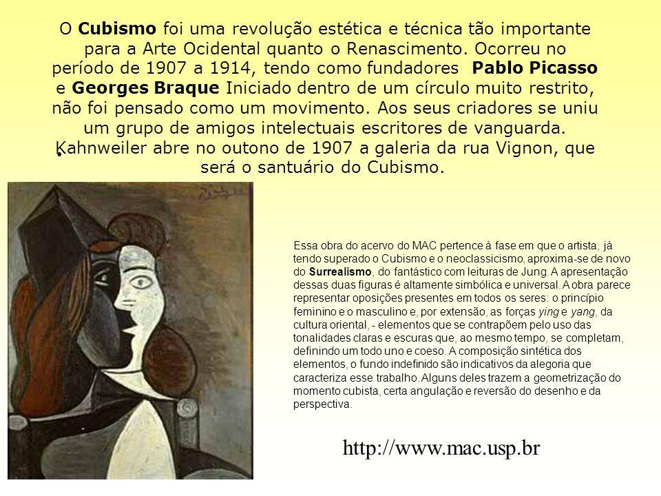 O Cubismo foi uma revolução estética e técnica tão importante para a Arte Ocidental quanto o Renascimento. Ocorreu no período de 1907 a 1914, tendo co