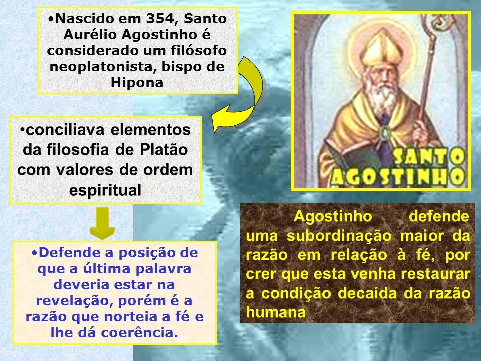 Agostinho defende uma subordinação maior da razão em relação à fé, por crer que esta venha restaurar a condição decaída da razão humana conciliava ele