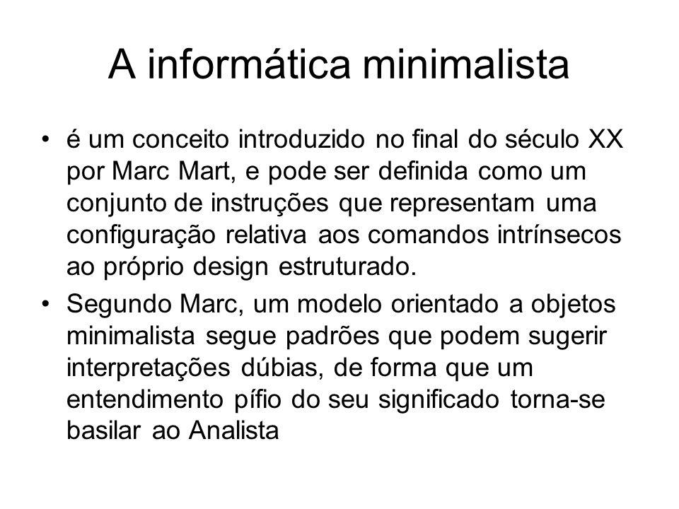 A informática minimalista é um conceito introduzido no final do século XX por Marc Mart, e pode ser definida como um conjunto de instruções que repres