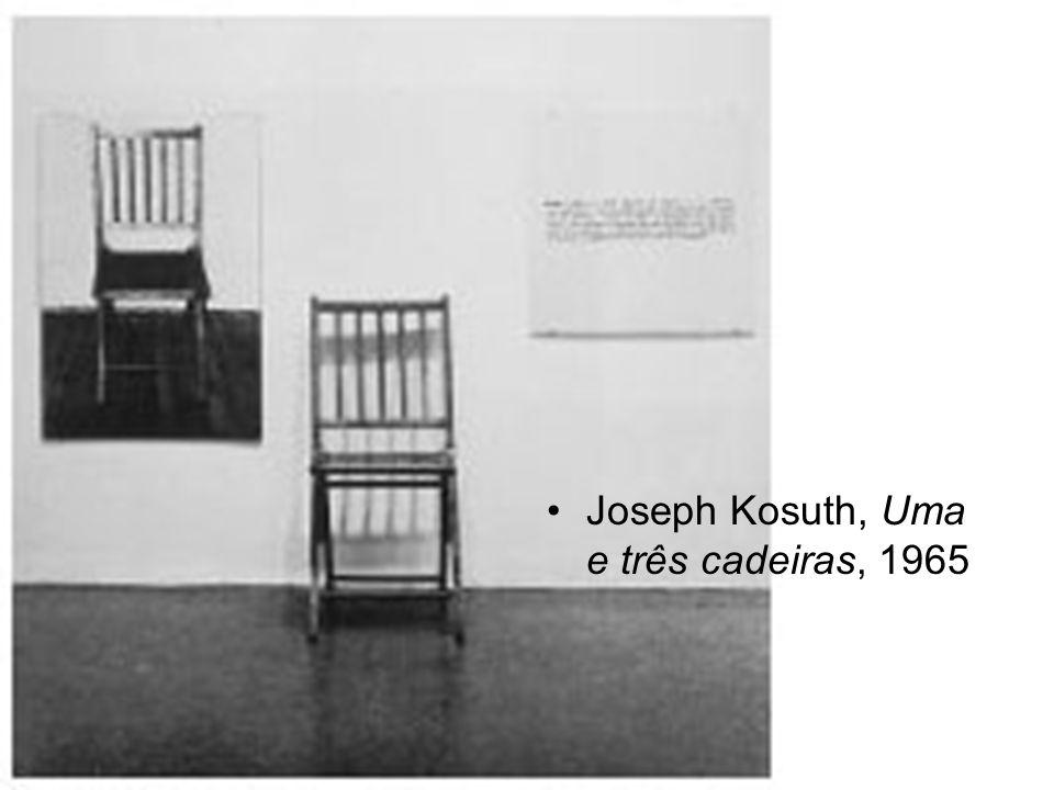 Joseph Kosuth, Uma e três cadeiras, 1965