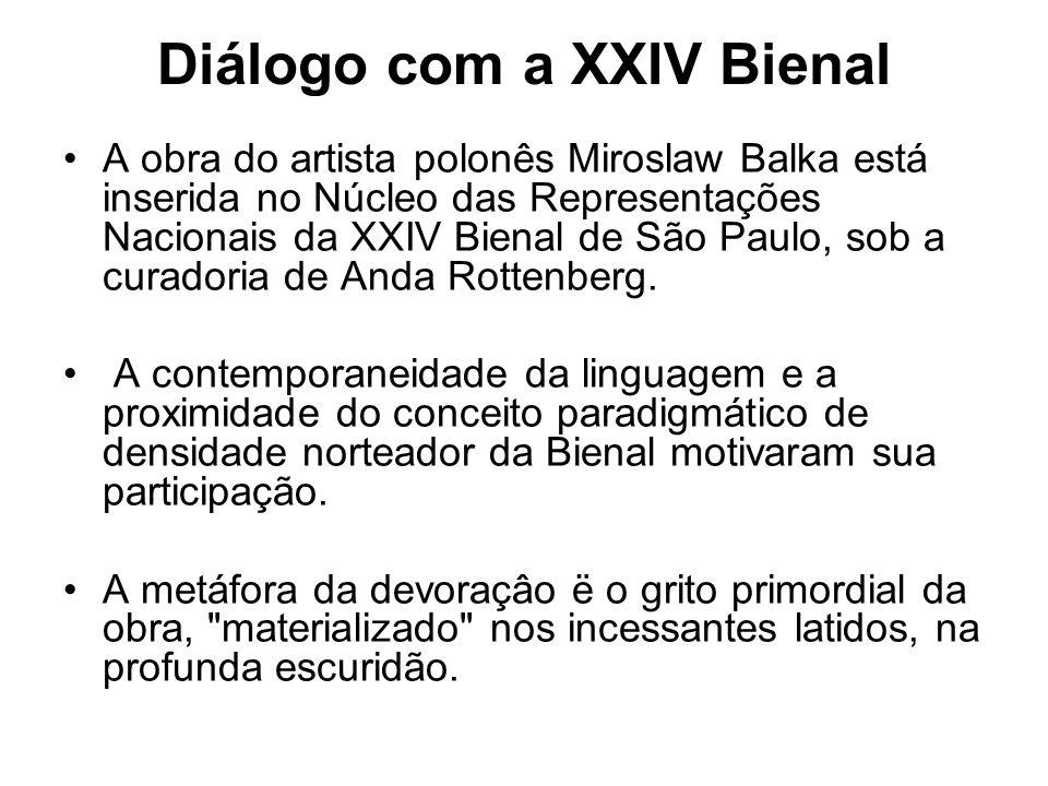 Diálogo com a XXIV Bienal A obra do artista polonês Miroslaw Balka está inserida no Núcleo das Representações Nacionais da XXIV Bienal de São Paulo, s