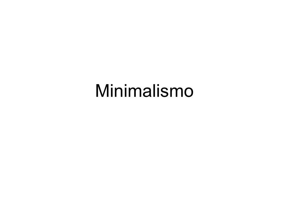 Minimalismo tendência da arte surgida nos anos 50 que prega o uso de formas simples, elementares, como reação ao emocionalismo do Expressionismo abstrato.