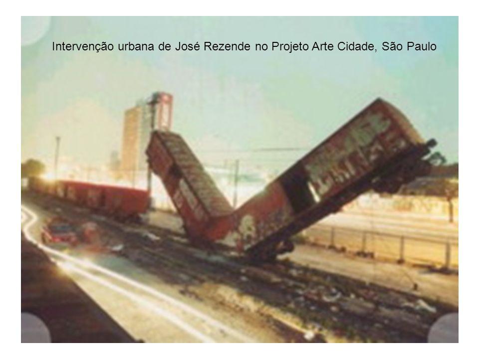 Intervenção urbana de José Rezende no Projeto Arte Cidade, São Paulo