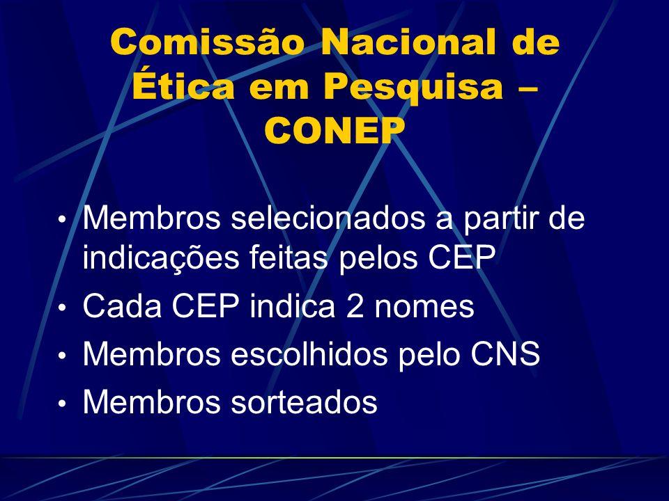 Comitê de Ética em Pesquisa- CEP Os membros do CEP deverão ter total independência na tomada das decisòes no exercício de suas funções, mantendo sob caráter confidencial as informações recebidas.
