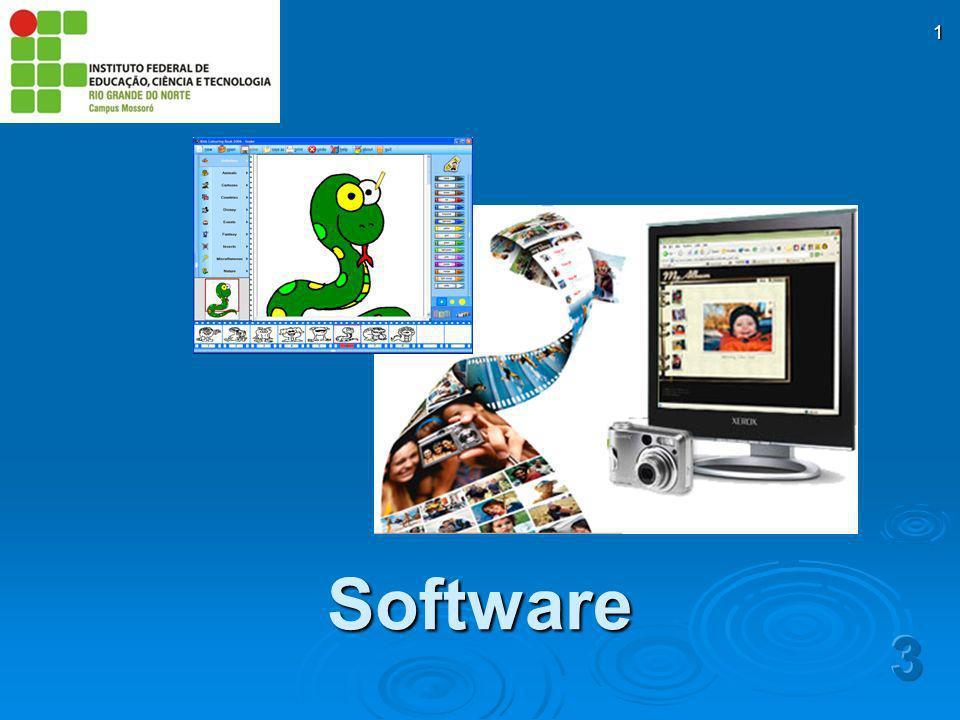 2 Quando pessoas e empresas compram computadores, em geral, há uma associação total à máquina (hardware) Entretanto, é o software que torna um computador útil X Formado por algoritmos e suas representações para o computador (programas) Instruções codificadas necessárias para transformar dados em informações Software
