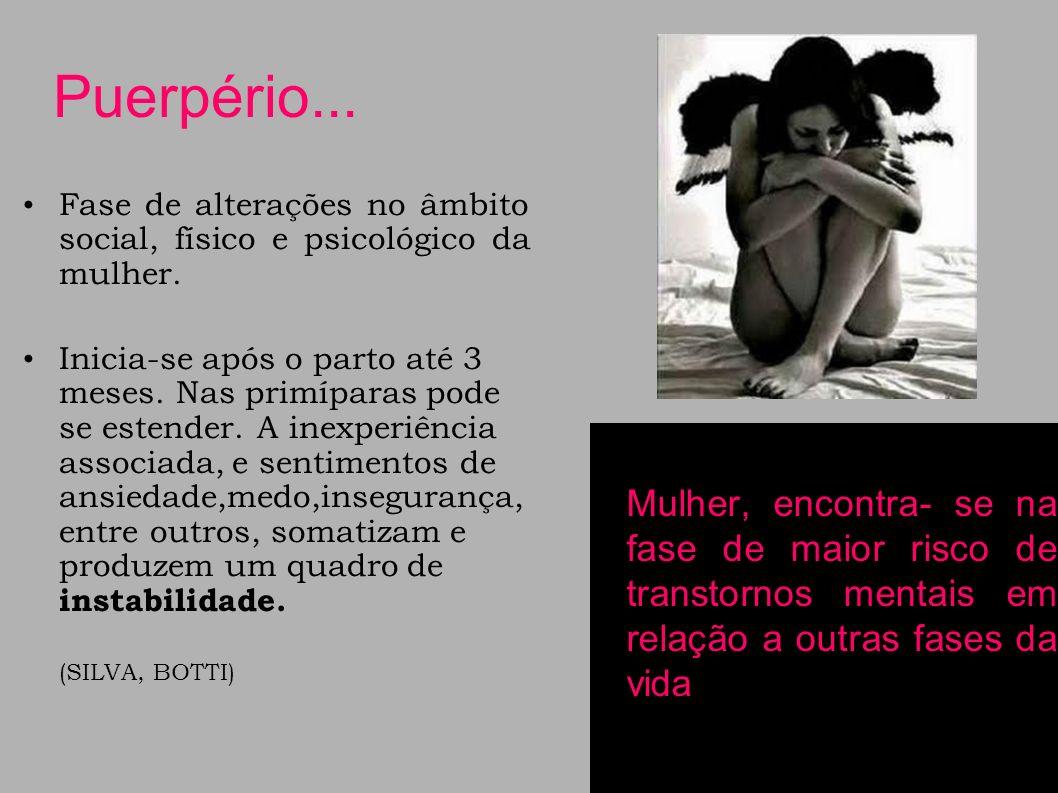 Os transtornos psiquiátricos foram classificados na Décima Revisão Internacional da doenças(CID10).Eles não são considerados distúrbios mentais específicos do puerpério, mas sim associados a ele, ou seja, o parto atua como um fator desencadeante devido à fragilidade psicológica qual a mulher se expõe.