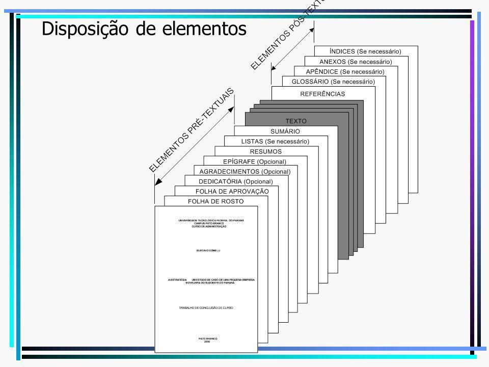 Disposição de elementos
