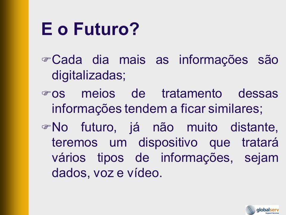 E o Futuro? Cada dia mais as informações são digitalizadas; os meios de tratamento dessas informações tendem a ficar similares; No futuro, já não muit