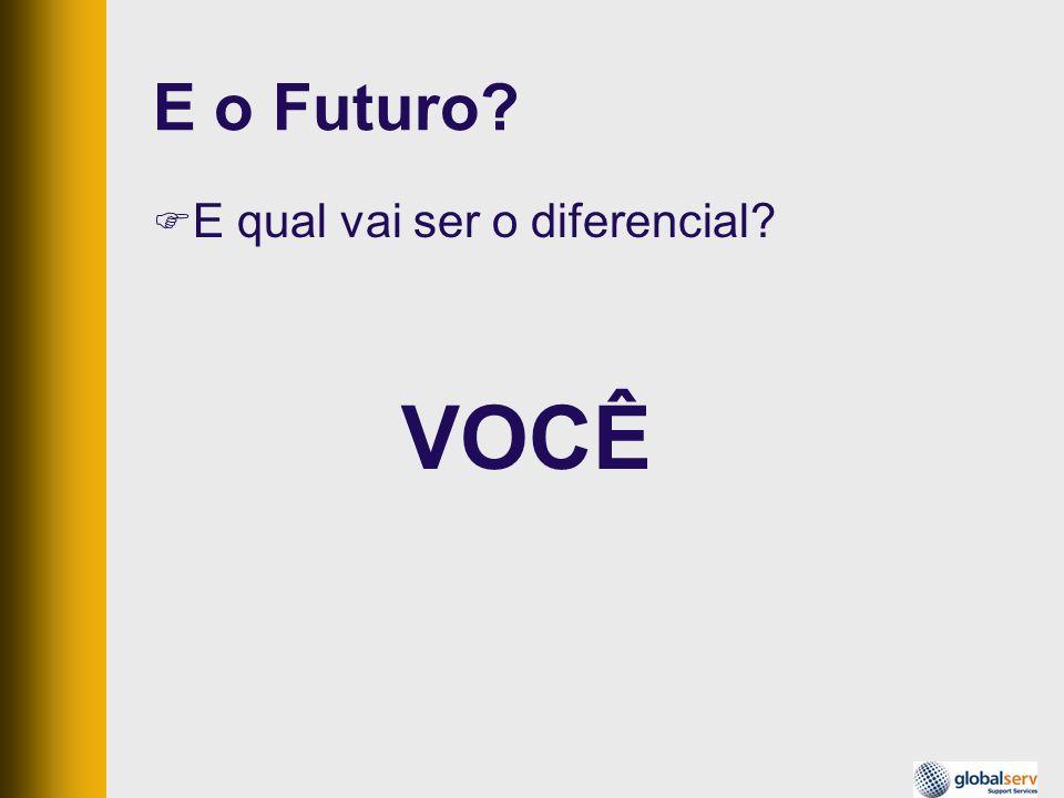 E o Futuro? E qual vai ser o diferencial? VOCÊ