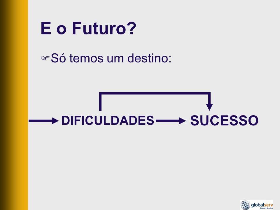 E o Futuro? Só temos um destino: SUCESSO DIFICULDADES