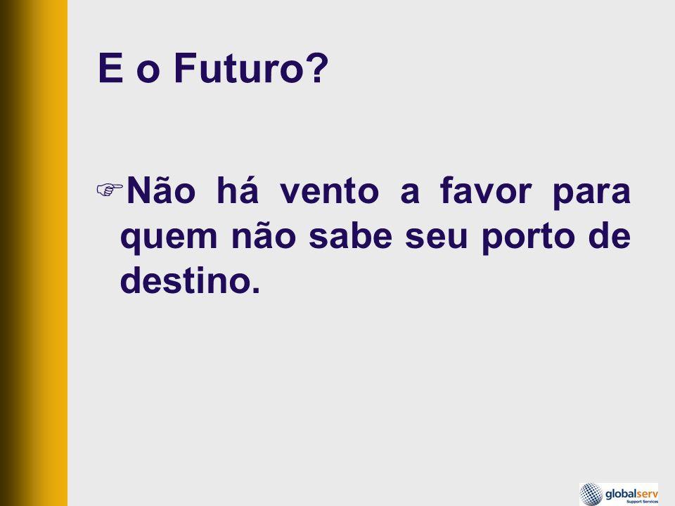 E o Futuro? Não há vento a favor para quem não sabe seu porto de destino.