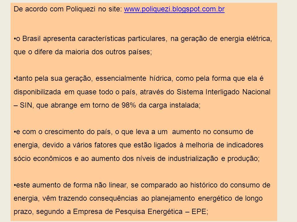 De acordo com Poliquezi no site: www.poliquezi.blogspot.com.brwww.poliquezi.blogspot.com.br o Brasil apresenta características particulares, na geraçã