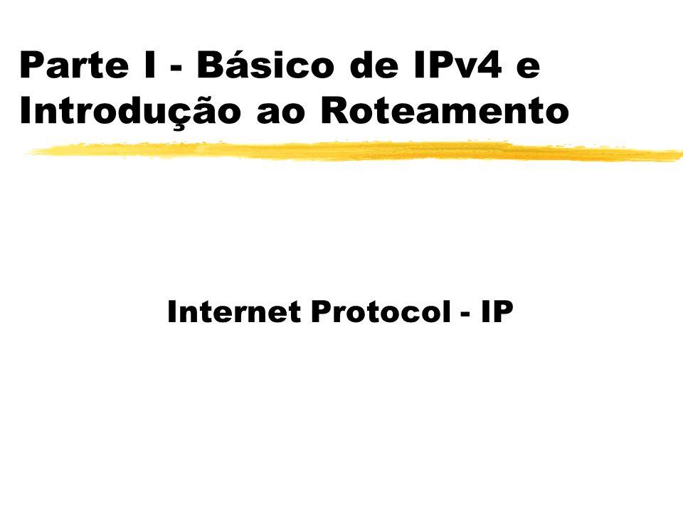 Parte I - Básico de IPv4 e Introdução ao Roteamento Internet Protocol - IP
