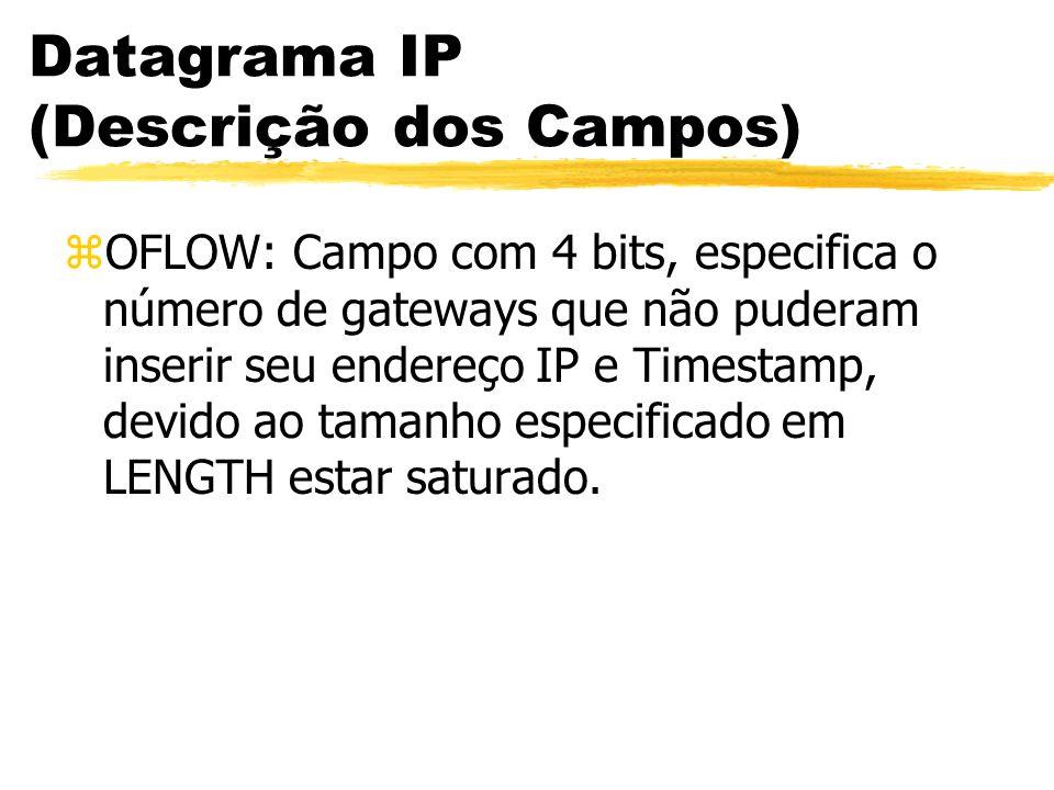 zOFLOW: Campo com 4 bits, especifica o número de gateways que não puderam inserir seu endereço IP e Timestamp, devido ao tamanho especificado em LENGT