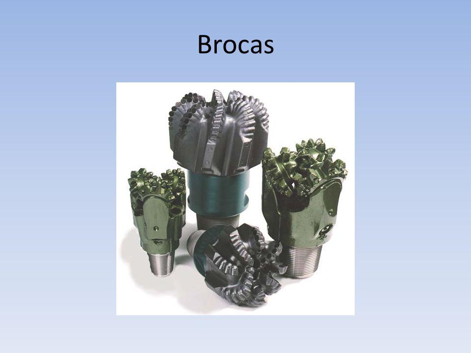 Brocas Por outro lado, os rolamentos de cilindros e esferas das brocas de cones, introduzidos no ano 1932, também evoluíram.