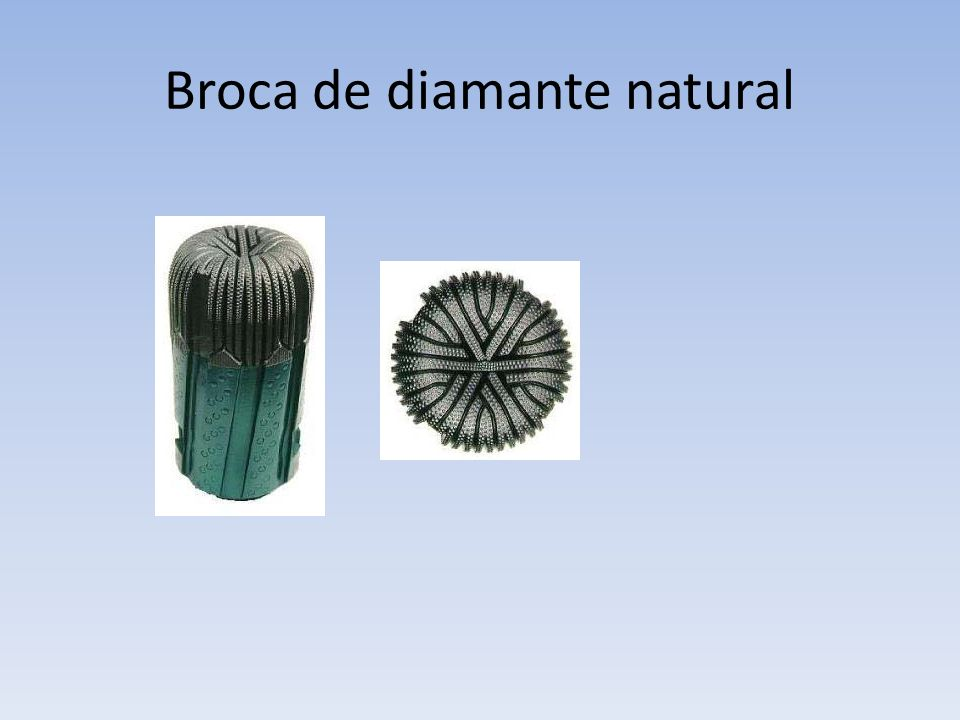 Broca de diamante natural