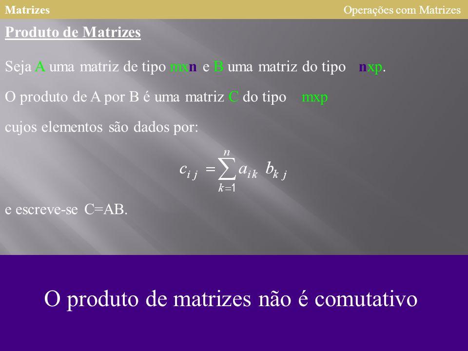 Matrizes 123 253 2 123 25 3 102 = x3 3x3 8 2x 3 12 15 29 27 Operações com Matrizes