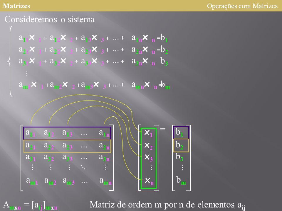 Matrizes a11a11 a12a12 a13a13 a21a21 a22a22 a23a23 a1na1n...