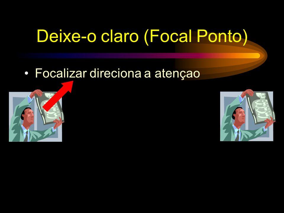 Deixe-o claro (Focal Ponto) Ponto focal direciona a atenção
