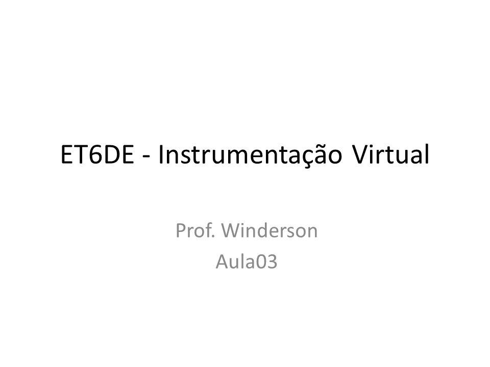 ET6DE - Instrumentação Virtual Prof. Winderson Aula03