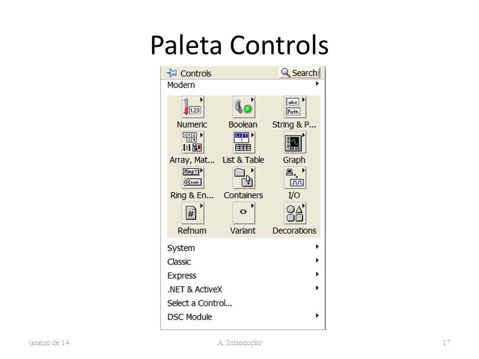 Paleta Controls janeiro de 14 A. Introdução 17