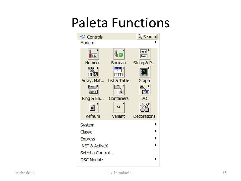 Paleta Functions janeiro de 14 A. Introdução 18