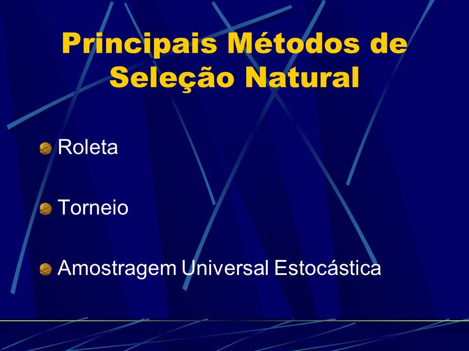 Principais Métodos de Seleção Natural Roleta Torneio Amostragem Universal Estocástica