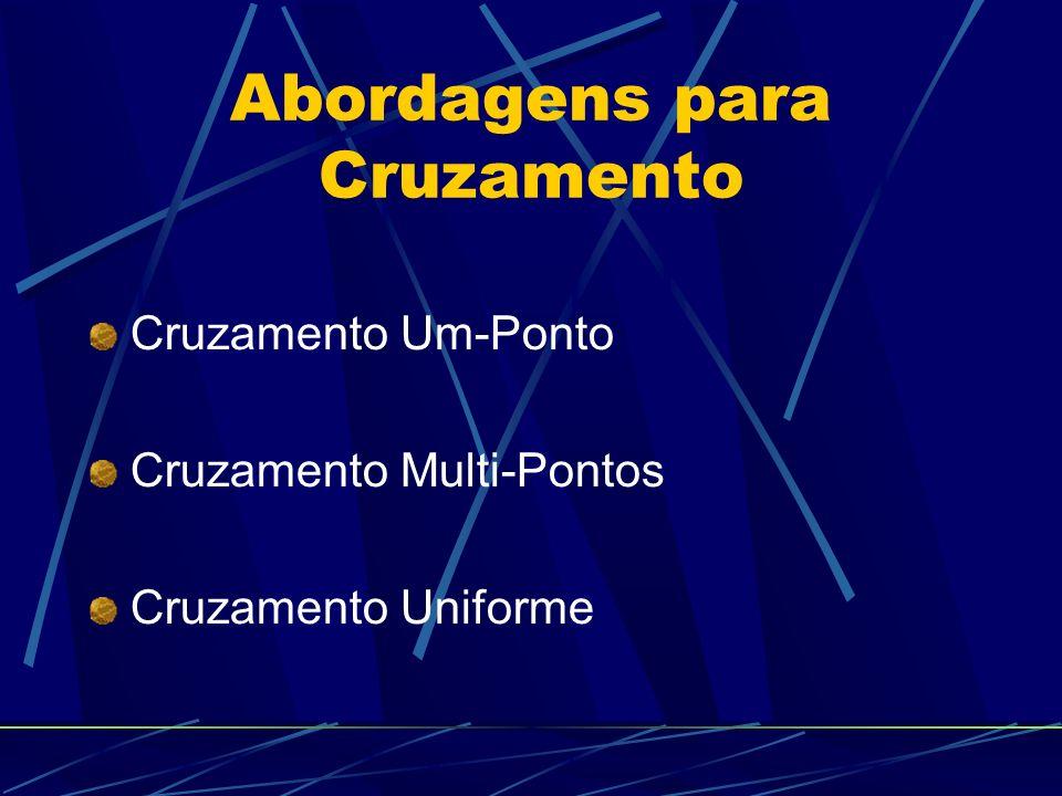 Abordagens para Cruzamento Cruzamento Um-Ponto Cruzamento Multi-Pontos Cruzamento Uniforme