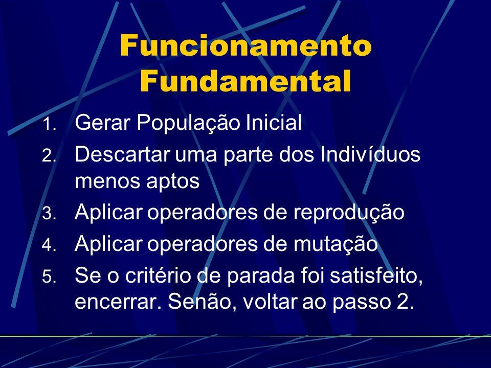 Funcionamento Fundamental 1.Gerar População Inicial 2.