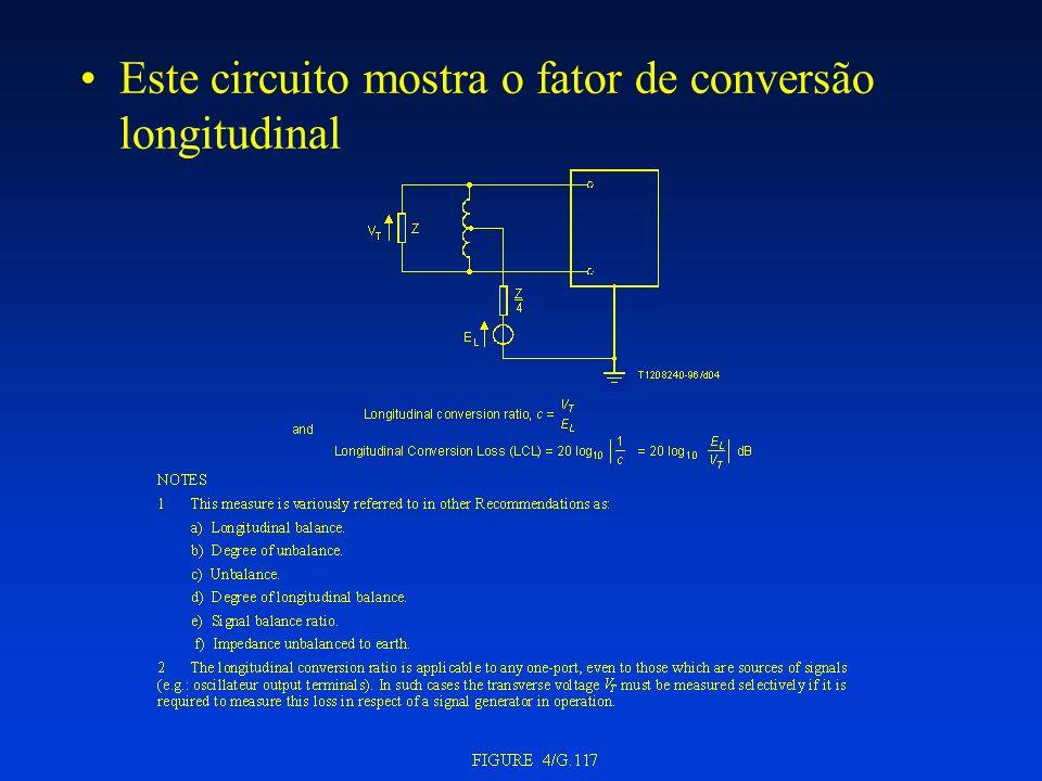 Este circuito mostra o fator de conversão longitudinal