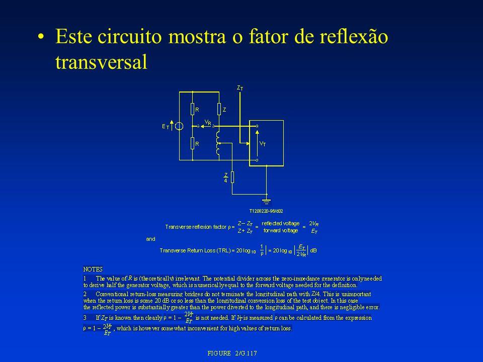 Este circuito mostra o fator de conversão transversal