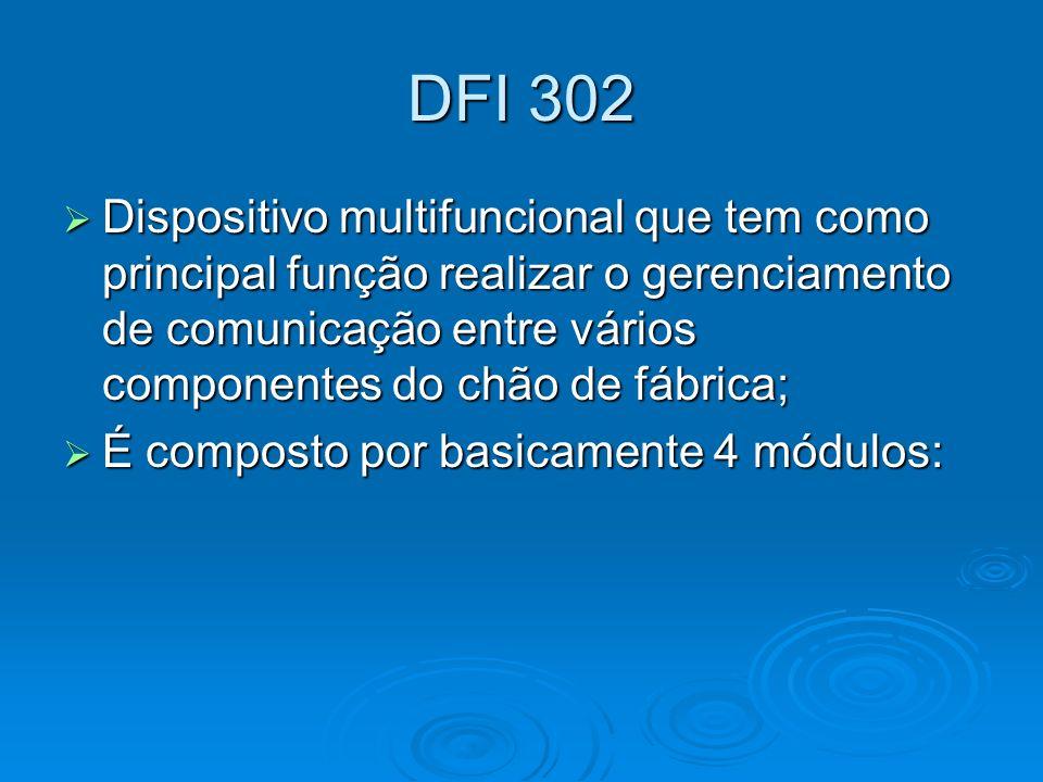 DFI 302 Dispositivo multifuncional que tem como principal função realizar o gerenciamento de comunicação entre vários componentes do chão de fábrica;