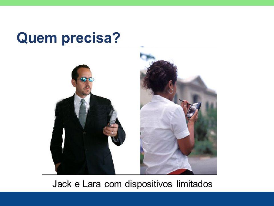 Jack e Lara com dispositivos limitados Quem precisa?