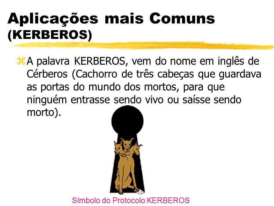 Aplicações mais Comuns (KERBEROS) zA palavra KERBEROS, vem do nome em inglês de Cérberos (Cachorro de três cabeças que guardava as portas do mundo dos