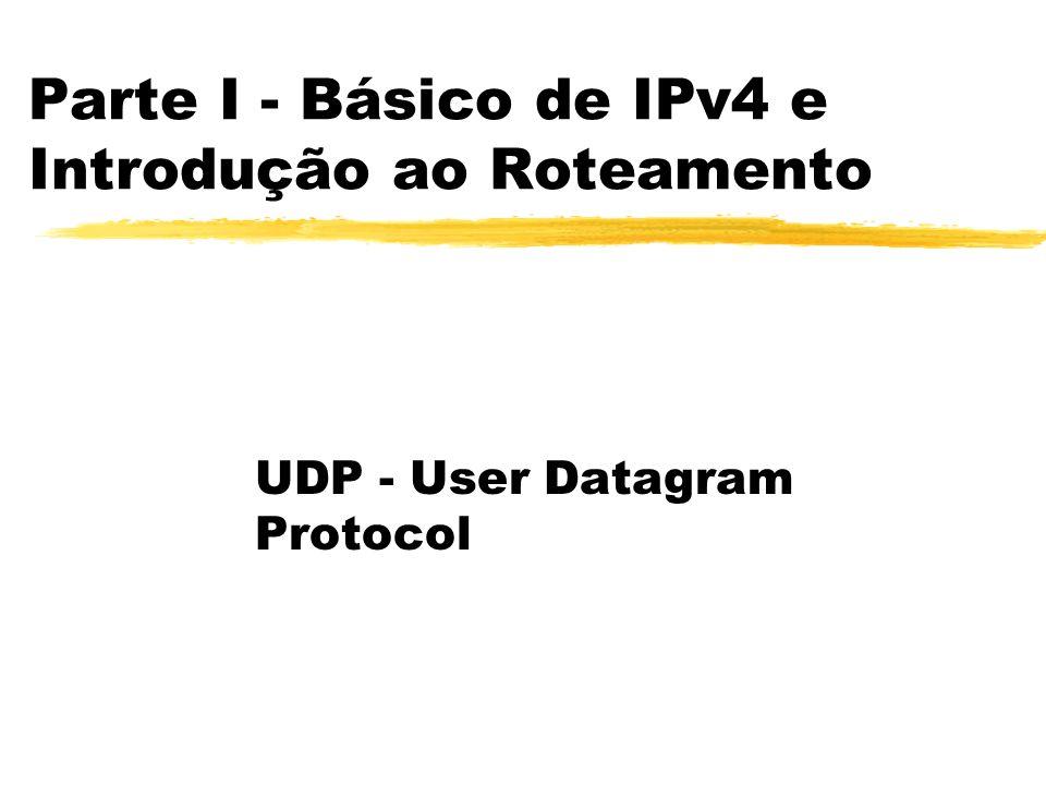 Parte I - Básico de IPv4 e Introdução ao Roteamento UDP - User Datagram Protocol