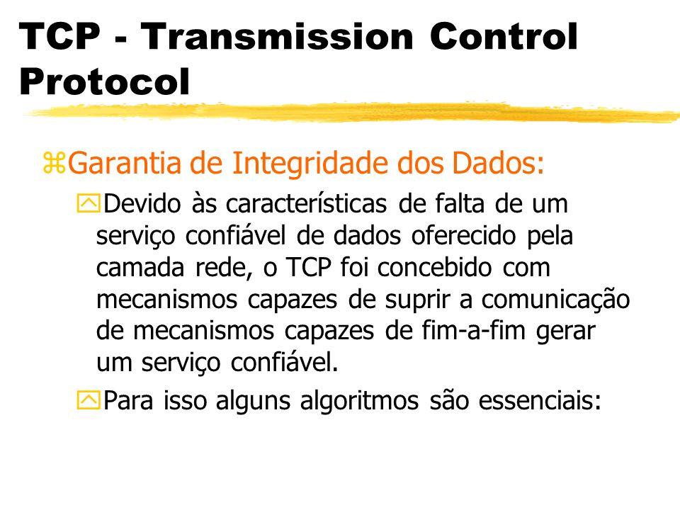 TCP - Transmission Control Protocol zCode Bits: yComposto de 6 bits.