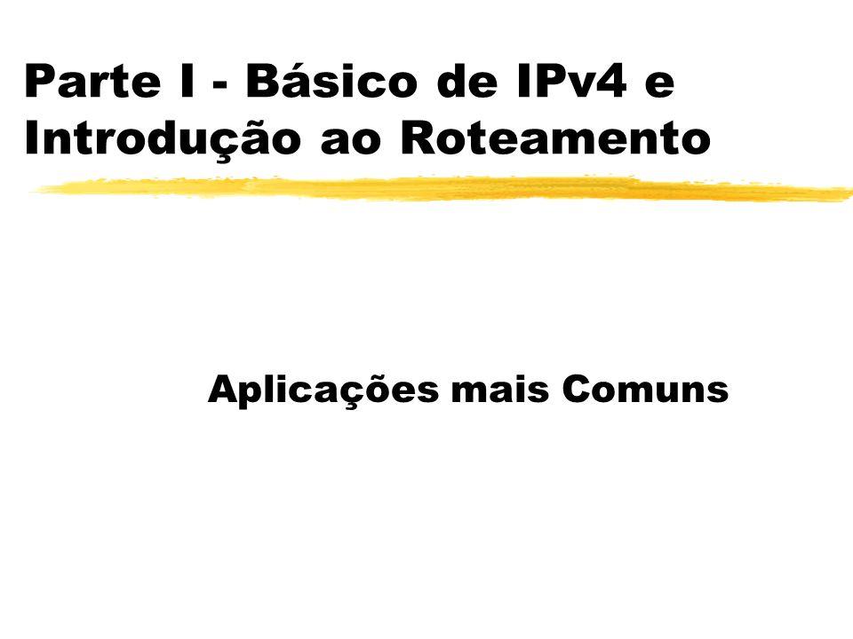 Parte I - Básico de IPv4 e Introdução ao Roteamento Aplicações mais Comuns