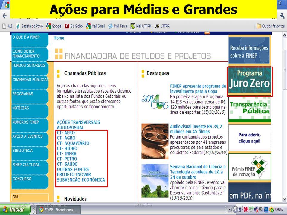 3 Ações para Médias e Grandes Prof. Hélio G. de CarvalhoUTFinova