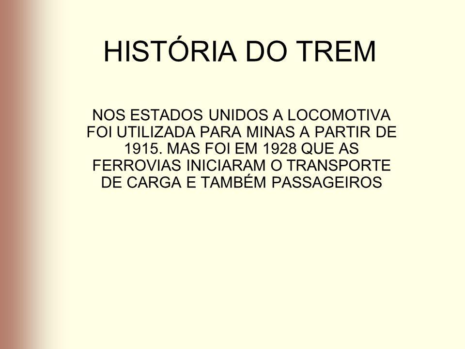 HISTÓRIA DO TREM NO BRASIL OS INCENTIVOS DO GOVERNO IMPERIAL As primeiras iniciativas nacionais, relativas à construção de ferrovias remontam ao ano de 1828, quando o Governo Imperial autorizou por Carta de Lei a construção e exploração de estradas em geral.